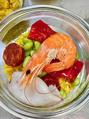 paella de merlu au restaurant l'Océan sur l'ile de Ré